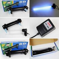 filtro de tanque uv al por mayor-Al por mayor-JEBO 5W ~ 36W Wattage UV esterilizador lámpara de luz ultravioleta filtro Clarificador limpiador de agua para acuario estanque Coral Koi Fish Tank