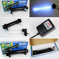 Wholesale Uv Water Light - Wholesale-JEBO 5W~36W Wattage UV Sterilizer Lamp Light Ultraviolet Filter Clarifier Water Cleaner For Aquarium Pond Coral Koi Fish Tank
