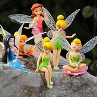 Wholesale 6pcs Tinker Bell Fairies Princess Figures PVC Doll Toy Cake Topper Kids ToyTinker Bell Fairies Toy kids