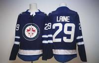 Wholesale New Jersey Jets - New Winnipeg Jets #29 Patrik Laine Jersey 2017 New Hockey Jerseys Blue Color Size M-XXXL Mix Order High Quality All Jerseys
