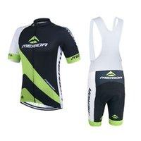Wholesale Merida Team - 2015 Team Merida Cycling Clothing  Cycling Jersey Short Sleeve for Men  Women White  Black Bib Shorts Bicycle Clothes