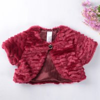 Wholesale fake fur clothing - Wholesale-NEW Baby girls clothes cotton Fake fur coat  autumn outerwear Fashion Winter