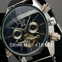 Wholesale Hk Calendar - Wholesale-SG post or HK post JARGAR luxury Man Tourbillon Watch HOT New Day Date Function Wrist Watch Silicone Sports Band
