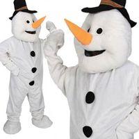 fantasia de cabeça grande venda por atacado-Adulto de Pelúcia Big Head Boneco de Neve Mascote Fancy Dress Costume Natal Xmas Outfit