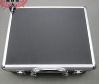 Wholesale Locks For Safe Box - Aluminium Flight tool case Multi-function portable magic props storage Carry Protector Range Ammo Safe box for Hand Gun Locking Pistol