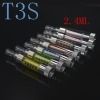 Wholesale Ego Mt3 Start Kit - High Quality kanger T3S 1.8 2.2ohm Coils 3.0ml Atomizers with MT3 Coil Clearomizer For Ego Evod Vision Spinner2 starts kits