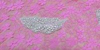 Wholesale Clear Beaded Sash - Fashion Bridal Motif Leaf Pattern Silver Beaded With Crystal Clear Rhinestone Applique Rhinestone Sash AA-659 11cm*4cm
