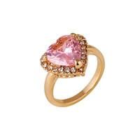 красивое золотое кольцо пальца оптовых-Форма сердца уникальные обручальные кольца дешевые розовое золото кольца для женщин последний дизайн горячие продажи романтический красивые обручальные кольца палец