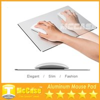 Wholesale Gaming Cool Pad - Luxury Metal Mouse Pad Aluminium Surface Alloy Gaming Mouse Mat Simplicity Cool Slimer Compatible With MacBooks iMac Mac