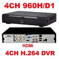 4ch dvr großhandel-Großhandels-4Channel H.264 Realzeit volles D1 960H CCTV DVR Netz HDMI 1080P Sicherheit 4CH DVR Recorder für Mobile online Ansicht Freies Verschiffen