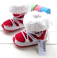 Wholesale Handsome Baby Girl - Wholesale-Winter baby boys and girls soft soled shoes baby toddler boots nobility handsome strap thermal female and male baby snow boots