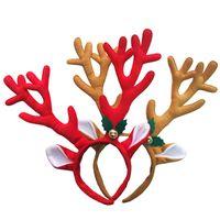 ingrosso fibbie fornitori-Natale Decorazione Deer Bell Large Antlers Christmas Head Hoop Fibbia Xmas Party Fornitori Regali di festa all'ingrosso