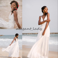 Wholesale chiffon goddess dress wedding for sale - Group buy Sexy greek goddess Beach Wedding Dress White Appliques Zipper Backless Chiffon Long Bridal Dress New Arrival Fashion Wedding Gowns