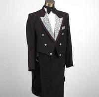 Wholesale Men S Marriage Suits - Wholesale-Black Singers fashion formal dress marriage suits tuxedo blazer mens blazers set man men's clothing jackets + trousers M L XL