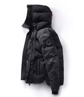 Wholesale mens winter jackets - New Canada Winter Down Parka Macmillans Men Brand Designer Hoodies Man Parkas Jackets Warm Outwear Mens Outdoor Cool Coats High quality