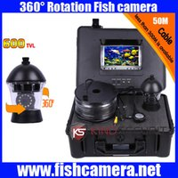 Wholesale Underwater Cameras Ptz - Underwater submarine camera 360 degree camera underwater PTZ camera CR110-7C with 50m to 300m cable