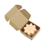 Wholesale pearls paper - Durable Resuable Gift Box For Jewelry Pearl Candy Handmade Soap Cookies Boxes Eco Friendly 65*65*30mm Case Mini 0 35xy B