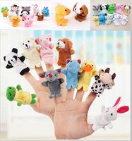 Wholesale Puppet Plays - 1000pcs lot DHL Fedex Velvet Plush Finger Puppets Animal puppets Toys finger puppet Kids Baby Cute Play Storytime (Assorted Animals