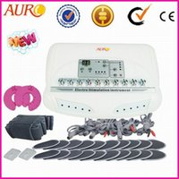 Wholesale Slimming Electronic Machine - electronic stimulation machine fast slim new generation muscle tightening EMS beauty machine with CE approval AU-6804