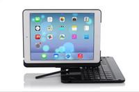 ipad mini hüllen schwarz großhandel-Für iPad Air 2 Bluetooth Tastatur Fall SCHWARZ Wireless Keyboard für iPad 6 Folio Stil Abdeckung 360 Grad drehen