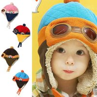 Wholesale Cheap Toddler Hats - Cheap Price Toddlers Cool Baby Boy Girl Kids Infant Winter Pilot Aviator Warm Cap Bomber Hat
