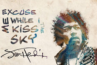 Jimi Hendrix Art Soie Affiche Wall Decor Psychédélique Rock Legend