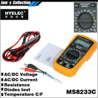 Wholesale Mastech Ms8233c - Free shipping HYELEC MS8233C portable 200mV to 600V multimeter with temperature test Celsius or Fahrenheit Multimetro mastech