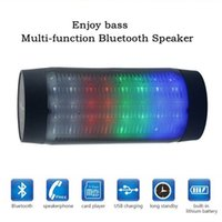 Wholesale China Led Lights Retail - Wireless Bluetooth speakers for E818 Pulse Portable Mini Speaker Streaming Colorful 360 LED Lights HiFi TF Card Top Quality with retail box
