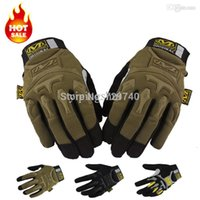 Wholesale Mechanix Mpact Gloves Wholesale - Wholesale-New Mechanix MPACT Wear Motorcycle Outdoor Cycling AirSoft Tactical Combat Paintball Shooting Army Military Full Finger Gloves