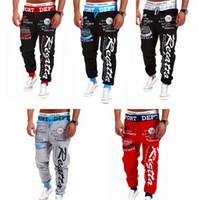 Wholesale Harem Pants Dark Red - Newest Fashion Jogger Men Pants Sport Jogging Cartoon Pants Mens Harem Sweatpants Trousers Casual joggers free shipping