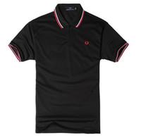 camisas de poliéster venda por atacado-Homem FRED PERRY Pólo de Lazer De Luxo Camisa Polo para Homens Nova Moda Poliéster Sólida Casual Solto Verão Esporte Plus Size S-3XL