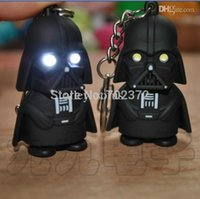 Wholesale-30pcs / lot LED chaveiro lanterna Darth Vader Star War Anakin Skywalker figura chaveiros