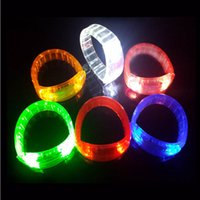 Flashing LED Wristbands Party Pulseira Pulseira Dance Disco Bangle Light Up
