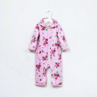 Wholesale Romper Thicken - Baby Romper Girl Floral Romper Infant Winter Thickening Clothing Newborn Romper Pink Color 3 p l