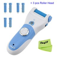 Wholesale Dead Head - Wholesale-Hot Selling Electric Foot Callus Remover Callous Dead Skin Exfoliating Pedicure Tool Device with 3 sets Replacement Roller Head