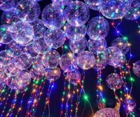 Leucht Led Ballon Bunte Transparente Runde Blase Dekoration Party Hochzeit Ballons Beleuchtung in Dark 3 Mt String
