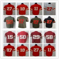 27 Kareem Hunt 10 Tyreek Hill 11 <b>Alex Smith</b> 87 Travis Kelce 15 Mahomes 50 Houston 29 Berry Vapor Untouchable Limited jersey