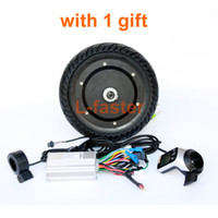 "Wholesale electric scooter hub motor kit - 350W Electric Scooter Conversion Kit LCD Panel Thumb Throttle With EBS Thumb Brake 8"" Brushless Hub Motor Kit More Than 30 KM H"