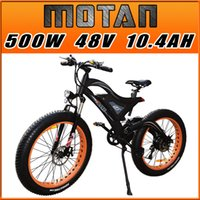 Wholesale E Bike Front - Addmotor MOTAN Electric Bicycle 500W 48V For Snow Beach All Terrain Electric Bike With Double Suspension 2017 New Design M-850 E-bike