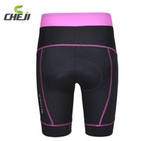 Wholesale T Shirt 3d Mountains - Wholesale-Pink White Bicycle T-Shirts Cycling Outdoor Sportwear Suit MTB Mountain Bike Jerseys Shorts Set For Women With 3D GEL Padded