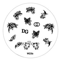 Wholesale Nail Stamping Art W - Wholesale-New Arrival W Series Nail Art DIY Image Stamp Stamping Plates Manicure Template