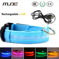 Wholesale Small Charger Light - New LED dog collars with usb charger cable S M L XL size led pet collar with best quality and high luminuous