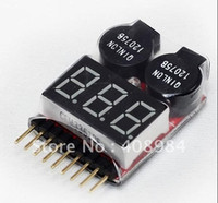 Wholesale voltage tester free ship - free shipping 1S-6S Lipo Battery Voltage Indicator Checker Tester Low Voltage Buzzer Alarm