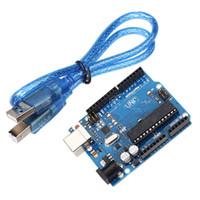 Wholesale Arduino Board Usb - 2018 brand new open source hardwares Arduino UNO R3 latest development board ATmega16U2 with usb cable free shipping