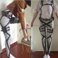 Wholesale Shingeki Kyojin Costume - 2015 New Attack On Titan Cosplay Shingeki No Kyojin Cosplay Recon Corps Harness Belts Hookshot Cosplay Costume