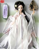 Wholesale Kurhn Chinese Myth - Free Shipping Novelty 29cm Kurhn Joint Body Dolls Chinese Myth Dolls White Snake Fairy Doll 9052 Best Fashion Dolls Toy for Girl