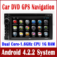 2din Wifi Gps Fernseher Kaufen -2Din Android 4.2 Kopf-Einheit Auto DVD-Player mit GPS-Navigation Bluetooth TV MP3 SD USB DVR Auto Multimedia Stereo 3G WIFI