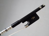 Wholesale Double Bass Bow With Gribs decoration Strong Carbon Bow Ebony Frog