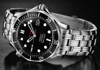 Wholesale Marine Stainless Watch - Wholesale-Mechanical Watches Luxury Men Stainless Steel Marine Scuba Diving in The James Bond 007 Professional Sports Watch