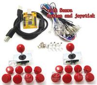 codificador usb al por mayor-Al por mayor-1 kit para Juyao Arcade para controlador USB 2 jugadores MAME Multicade Teclado Encoder con sanwa joystick y botón